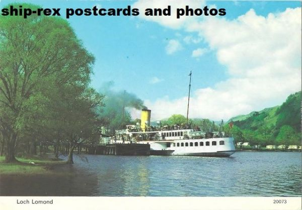 MAID OF THE LOCH (Caledonian SP) postcard (a1)
